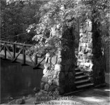 Suspension bridge - B & W