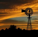 Windmill Sunset (Composition #2)