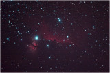 Horsehead and Flame nebulae in Orion