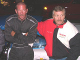 Riverview Speedway 10-18-08 Driver Paul Connolly, and Team owner Tony Formosa Jr.