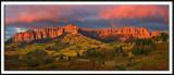 Cimarron Range Sunset Pano