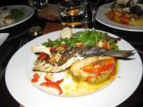Daurade (sea bream) with mixed vegetables