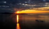 sunburst over Saturna Island Canada
