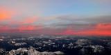 red sky near Glacier Peak