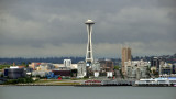 dark clouds over Space Needle