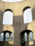 Interior of Coit Tower viewing area