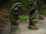 Pair of macabre carvings