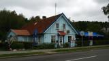Weathered old restaurant in Juodkrantė