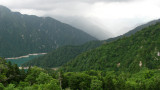 View across the mountains from Kurobe-daira
