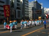 Kagura float procession