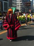 Boy in an oni-like costume
