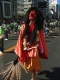 Marcher in tengu costume