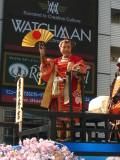 Man dressed as Toyotomi Hideyoshi