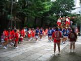 Preparing for the parade at Asahi-jinja