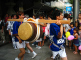 Out comes the taiko. . .