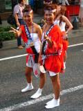 Mikoshi girls striking a pose