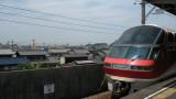 Meitetsu Panorama train at Utsumi station
