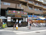 Beachside food stand in Utsumi
