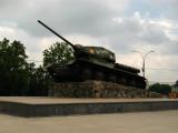 Old Soviet tank off Heroes' Cemetery