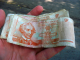 A batch of worn Transdniestrian bills