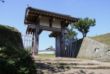 Restored outer gate of Matsumae Castle