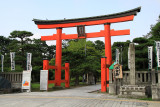 Torii at the entrance to Hakusan-kōen