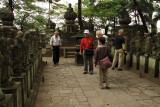 Tourists visiting the Gōhyaku Rakan, Kita-in