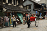 Rickshaw in Kawagoe's old center