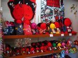 Row of Sarubobo dolls
