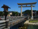 Torii on the Miyamae-bashi