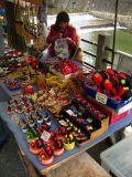 Sarubobo dolls at the morning market