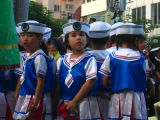Children waiting to perform