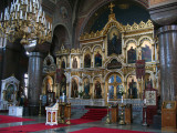 Iconostasis and chandelier