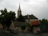 Hungarian-style church along a backstreet
