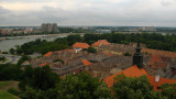 Old tile roofs of Petrovaradin and the Danube