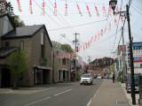 Sakura Matsuri decorations on the main street