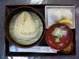 Lunch set of inaniwa-udon