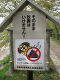 No dog poop along the tunnel, please