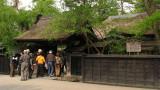 Tour group entering the Aoyagi-ke residence
