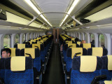 Interior of the Akita Shinkansen