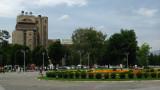 Ploštad Makedonija with Telecom Building