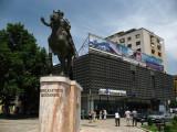 Statue of Skanderbeg off Čaršija