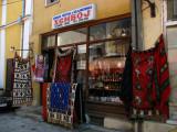 Rugs outside a Čaršija shop