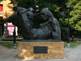 Memorial sculpture to the 1963 earthquake