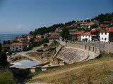 Amphitheatre and old town houses