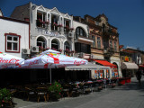 Cafes on Sveti Kliment Ohridski - the main drag