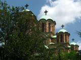 Domes of Sveti Marko on a sunny day