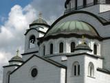 Front detail of Sveti Sava