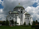 Cathedral of Sveti Sava from the park