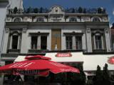Historic facade of a cafe